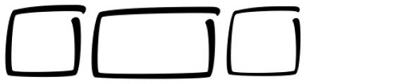 Brushability Extras Font LOWERCASE
