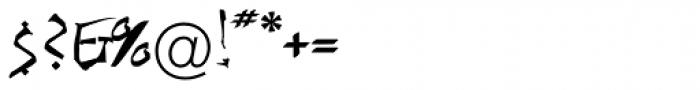 Brushable EF Font OTHER CHARS
