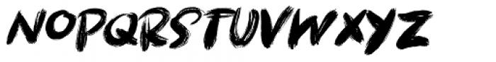 Brushcrazy Italic Font UPPERCASE