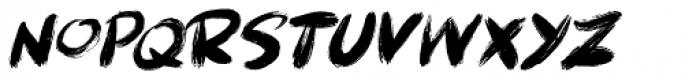 Brushcrazy Italic Font LOWERCASE