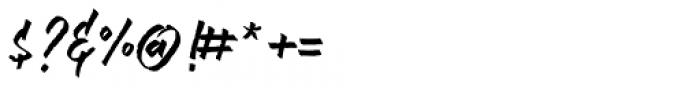 Brushlie Solid Font OTHER CHARS