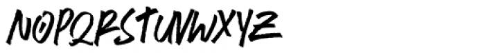 Brushlie Solid Font UPPERCASE