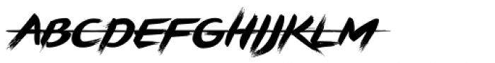 Brushstrike Font UPPERCASE