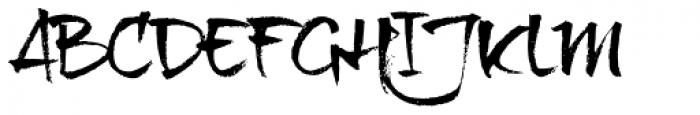 Brushtip Texe Font UPPERCASE