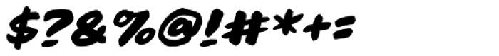 Brushzerker Heavy BB Italic Font OTHER CHARS