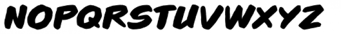 Brushzerker Heavy BB Italic Font LOWERCASE