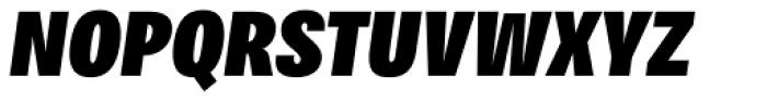 Bruta Pro Compressed Black Italic Font UPPERCASE