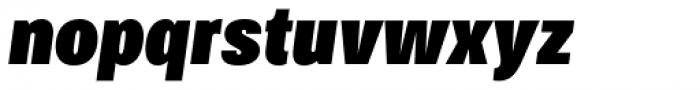 Bruta Pro Compressed Black Italic Font LOWERCASE