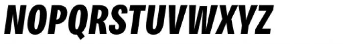 Bruta Pro Compressed Bold Italic Font UPPERCASE