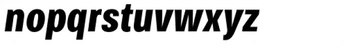 Bruta Pro Compressed Bold Italic Font LOWERCASE