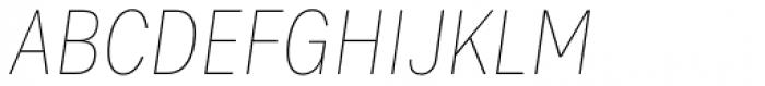 Bruta Pro Condensed Thin Italic Font UPPERCASE