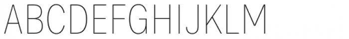 Bruta Pro Condensed Thin Font UPPERCASE