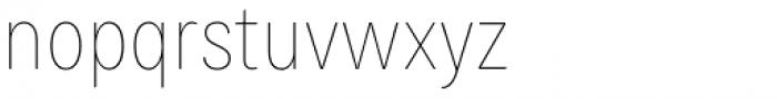 Bruta Pro Condensed Thin Font LOWERCASE