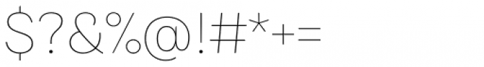 Bruta Pro Regular Thin Font OTHER CHARS