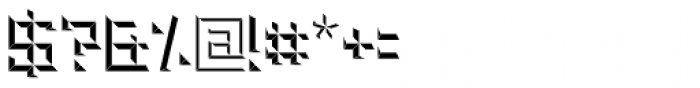Brute Bottom Left Font OTHER CHARS