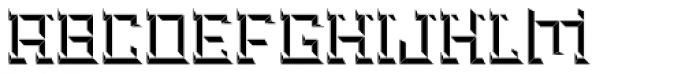 Brute Bottom Left Font UPPERCASE