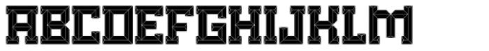 Brute Filled Font UPPERCASE