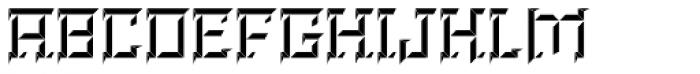 Brute Top Left Font UPPERCASE