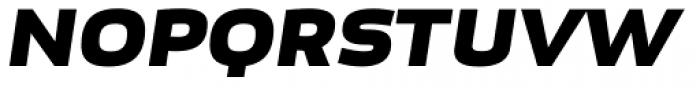 Bruum FY Black Italic Font UPPERCASE