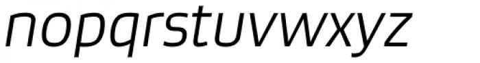Bruum FY Light Italic Font LOWERCASE