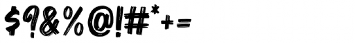Bruzh Regular Font OTHER CHARS