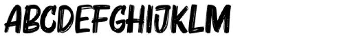 Bruzh Regular Font UPPERCASE