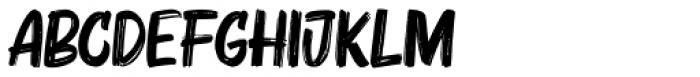 Bruzh Regular Font LOWERCASE