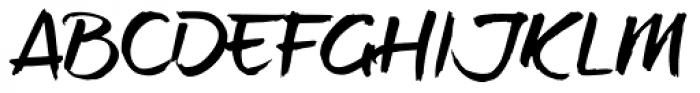 brushtipTerrence Font UPPERCASE