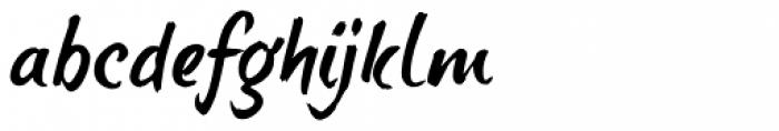 brushtipTerrence Font LOWERCASE