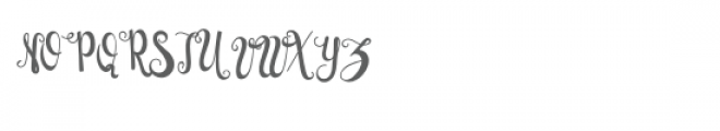 Bright Snowflakes Font UPPERCASE
