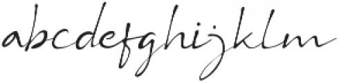 BS Signature otf (400) Font LOWERCASE