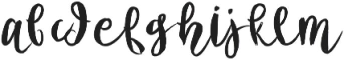 BSD Emelie Regular otf (400) Font LOWERCASE