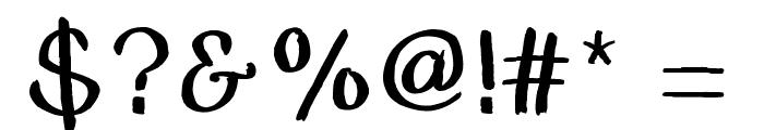 BSDCambridge Font OTHER CHARS