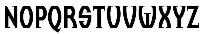 BC Thomas & Ruhller Regular Font UPPERCASE