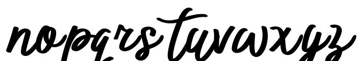 BTX-ITTALLY Regular Font LOWERCASE