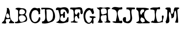 btd BeezWax Font UPPERCASE