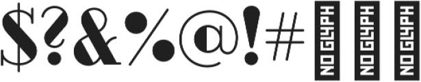 BUBBLES Black otf (900) Font OTHER CHARS