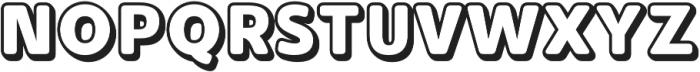 Buba Outline otf (400) Font UPPERCASE