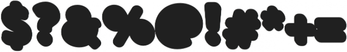Buba Shadow otf (400) Font OTHER CHARS