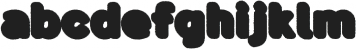 Buba ShadowEroded otf (400) Font LOWERCASE