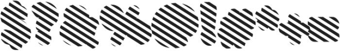 Buba Stripes otf (400) Font OTHER CHARS