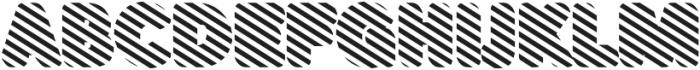 Buba Stripes otf (400) Font UPPERCASE