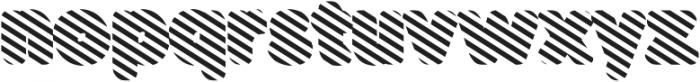 Buba Stripes otf (400) Font LOWERCASE