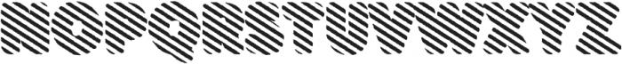 Buba StripesEroded otf (400) Font UPPERCASE