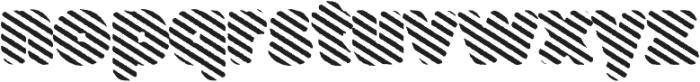 Buba StripesEroded otf (400) Font LOWERCASE