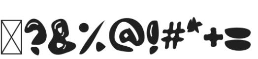Bubble Letter Regular otf (400) Font OTHER CHARS