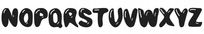 Bubble Letter Regular otf (400) Font UPPERCASE