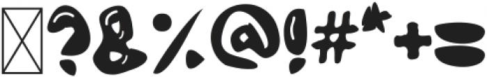Bubble Letter Regular ttf (400) Font OTHER CHARS