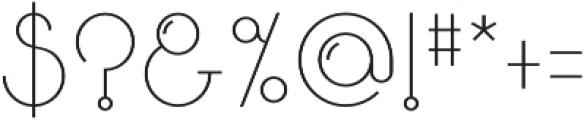 Bubble Regular otf (400) Font OTHER CHARS