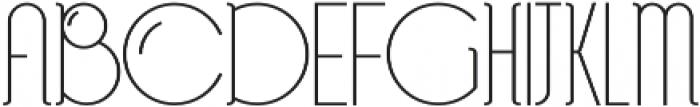 Bubble Regular otf (400) Font UPPERCASE